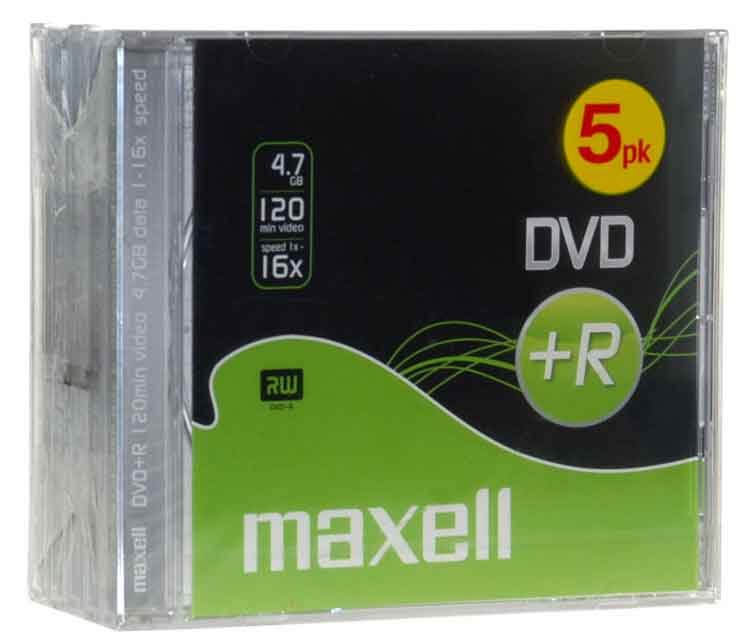 Dvd+r 4.7gb 16x 5-p Jewelcase