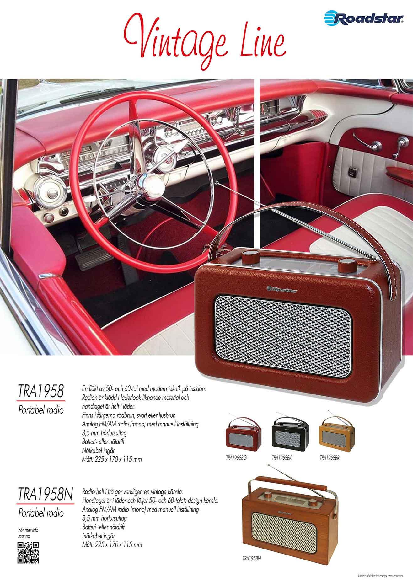 Affisch Vintage line TRA1958