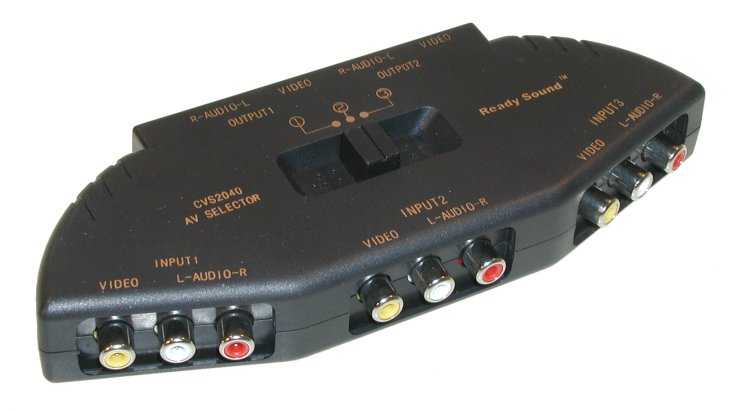 Audio Video Switch Rcax3 3in