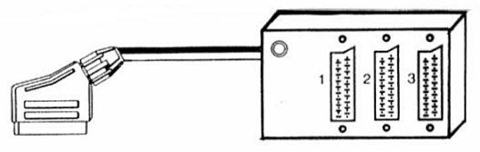 Scart Gren 3 Uttag 0.5m Kabel