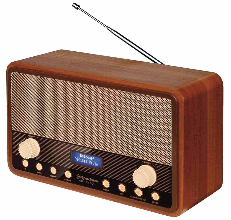 Roadstar vintage radio i trä