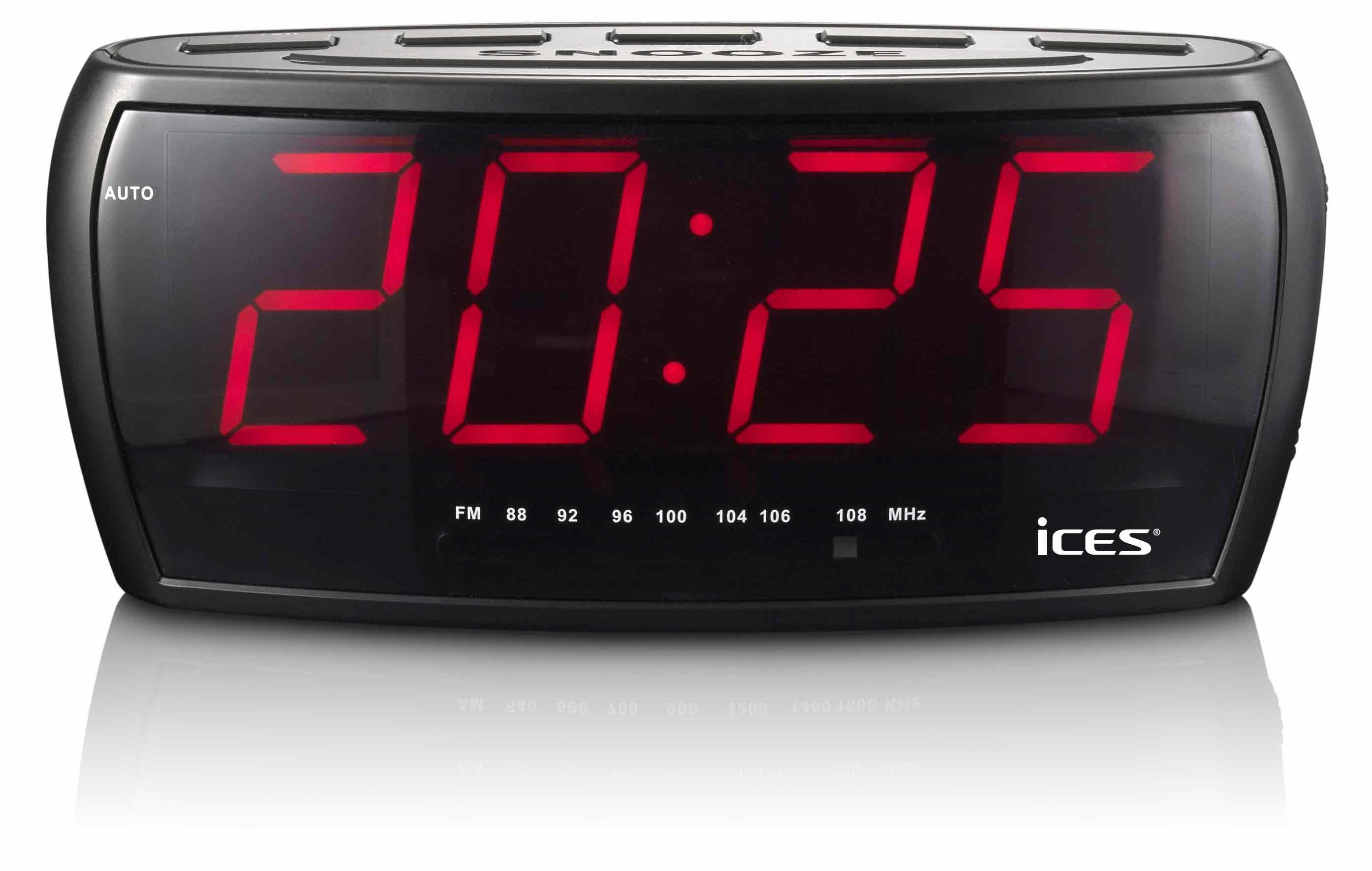 Ices Klockradio jumbo siffror