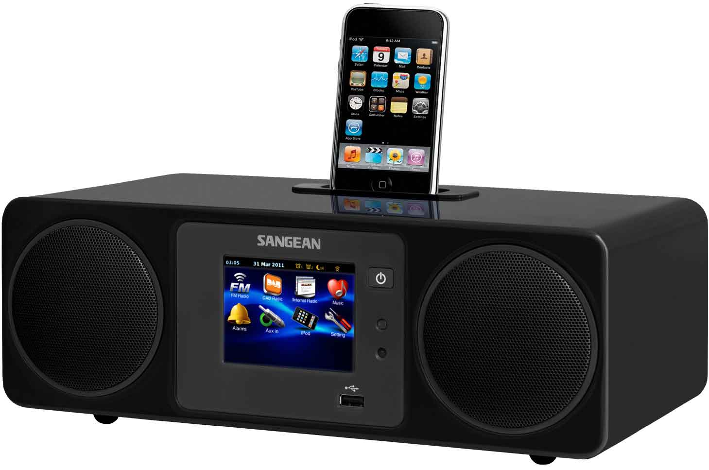 sangean wifi radio fm dab 4 f. Black Bedroom Furniture Sets. Home Design Ideas