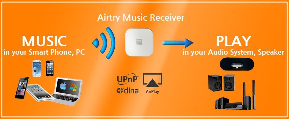 AIRTRY Wi-Fi mottagare för aud